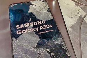 Samsung A30s. Замена разбитого стекла дисплея.